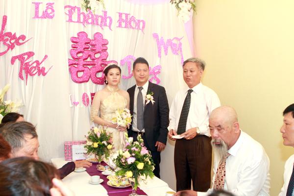 Khung cảnh đám cưới lãng mạn của Mỹ Dung