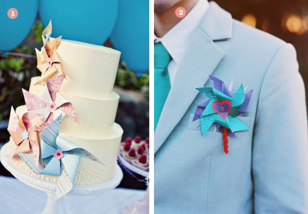 Cách trang trí đám cưới với chong chóng
