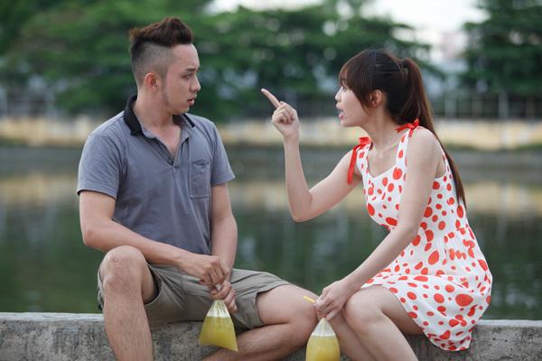 Quốc Hùng và Lan Ngọc vừa gặp nhau đã diễn xuất ăn ý trong những cảnh quay đầu tiên.