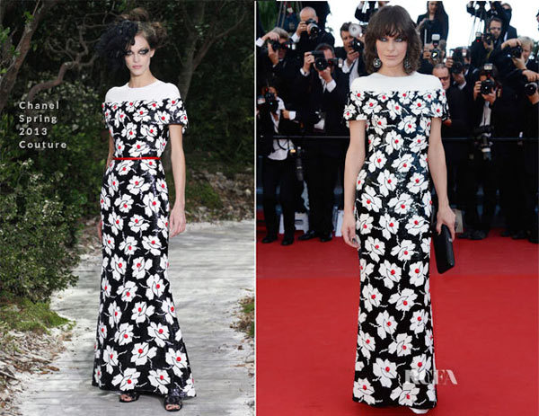 Milla Jovovich In Chanel Couture Spring 2013  Blood Ties Cannes Film Festival Premiere.