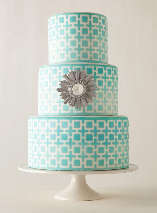 Những chiếc bánh cưới màu xanh được ưa chuộng nhất trong đám cưới xuân hè.