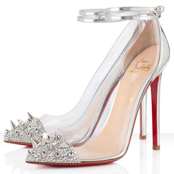 Mẫu giày gắn đinh tán ít phổ biến nhưng sẽ là gợi ý cho cô dâu muốn