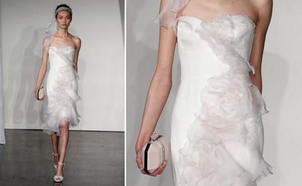 Váy cưới ngắn hàng hiệu cho cô dâu mùa hè