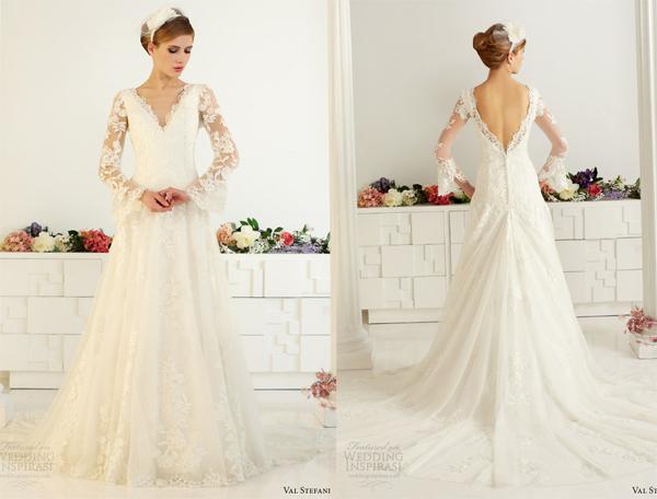 Ngay cả những mẫu váy dài tay cũng được thiết kế rất thoải mái để cô dâu có thể sử dụng trong mùa hè.
