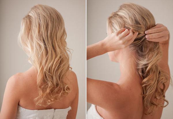 Dùng máy uốn xoăn tạo sóng tóc bồng bềnh, đồng thời tạo cảm giác tóc dày hơn.