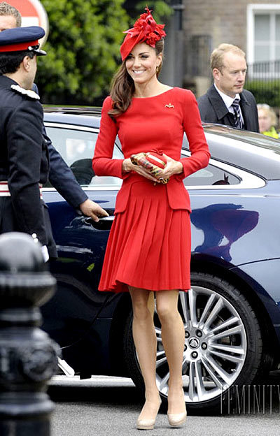 $3,570  At the Queen's Diamond Jubilee Celebration (custom Alexander McQueen suit, Sylvia Fletcher hat and L.K. Bennett pumps).