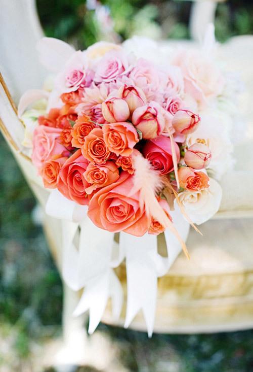 Hoa hồng cam dành cho các cô dâu tươi trẻ.