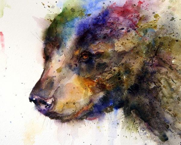 Họa sĩ người Mỹ Dean Crouser là tác giả của những bức tranh màu nước đầy sáng tạo này.