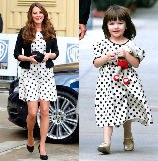 Polka-Dot Princesses Duchess Kate nabbed her polka-dot look in April 2013 from Cruise's August 2008 toddler archive.