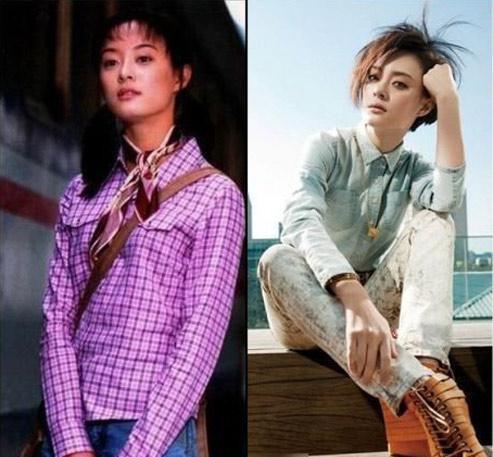 Một Tôn Lệ hiền lành, có phần giản dị trong những vai diễn đầu tiên trong sự nghiệp. Sau khi sinh con, cô chuyển sang style năng động, gợi cảm nên trông càng cuốn hút hơn.