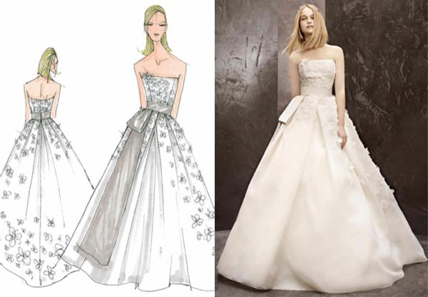 Váy cưới đẹp từ bản vẽ đến tác phẩm thực