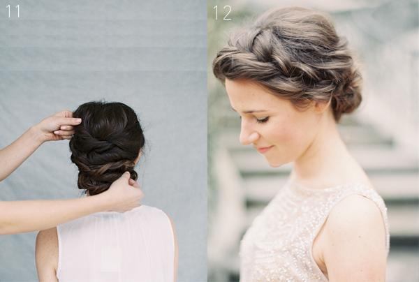 Sau cùng, kéo nhẹ tóc trên đỉnh đầu để tạo độ phồng tự nhiên và xịt một chút dầu bóng.
