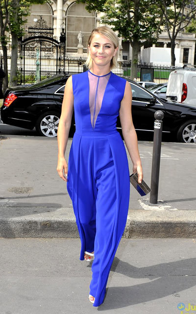 Julianne Hough is a beauty in blue in these exclusive photos while attending the Georges Hobeika Couture Autumn/Winter 2013/2014 fashion show held during Paris Fashion Week on Monday (July 1) in Paris, France.