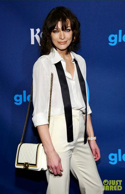 Milla Jovovich at the 2013 GLAAD Media Awards.
