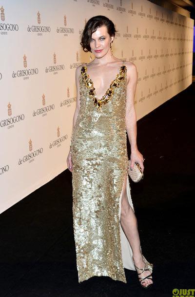 Milla Jovovich at de Grisogono's Glam Extravaganza in Cap D'Antibes, France.