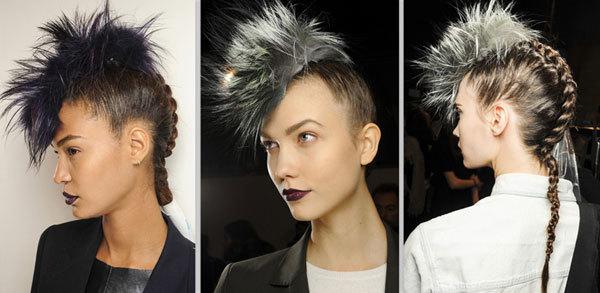 Tại show trình diễn của Fendi, các người mẫu được để kiểu tóc Mohawk (Mohican - là kiểu tóc bắt nguồn từ người da đỏ) với những đoạn tóc tết ấn tượng phía sau.