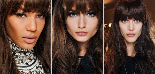 Tóc mái để dài chạm mi mắt là phong cách thời trang những năm 1960 được áp dụng tại show Emilio Pucci.