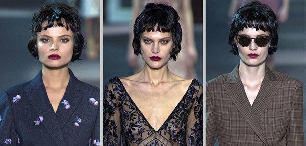 Tại buổi trình diễn thời trang của Louis Vuitton, phong cách tóc của các người mẫu lấy cảm hứng từ những năm 1940, mang đến âm hưởng retro cho đêm diễn.