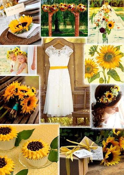 3. Đám cưới mùa hè rực rỡ với hoa hướng dương.
