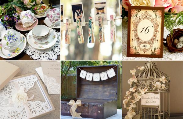 6. Phong cách đám cưới vintage cổ điển nhưng không bao giờ lỗi mốt trong đám cưới.