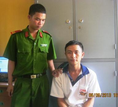 Tên dâm đãng Cao Hoàng Phan tại nhà tạm giam CA huyện Minh Hóa.