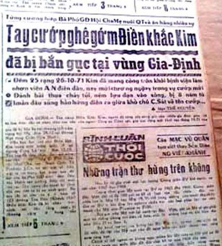 Báo chí Sài Gòn từng xôn xao về một tên giang hồ chỉ cướp của và hiếp vợ của những sĩ quan Mỹ.