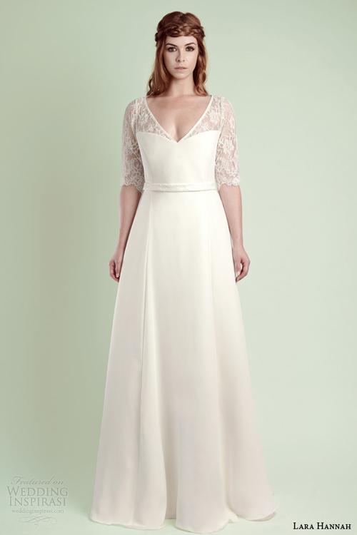 Bí quyết diện váy cưới cổ chữ V gợi cảm