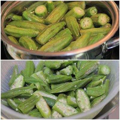 Cách làm món đậu bắp xào tép khô ngon 3