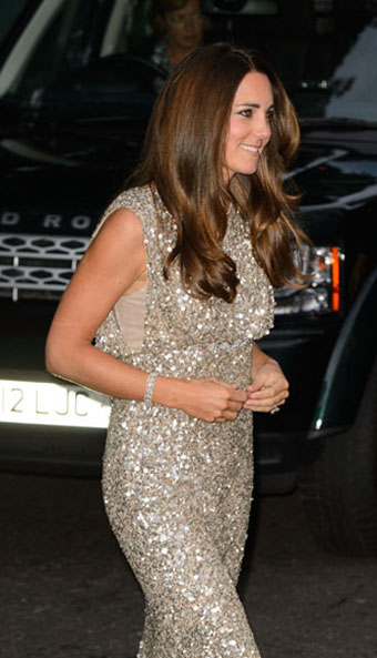 31-year-old Kate beamed as she accompanied husband William to the Tusk foundation gala dinner at The Royal Society in London.
