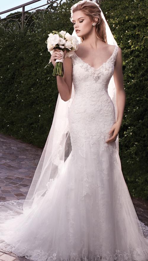 Váy cưới Trumpet tôn dáng người gầy