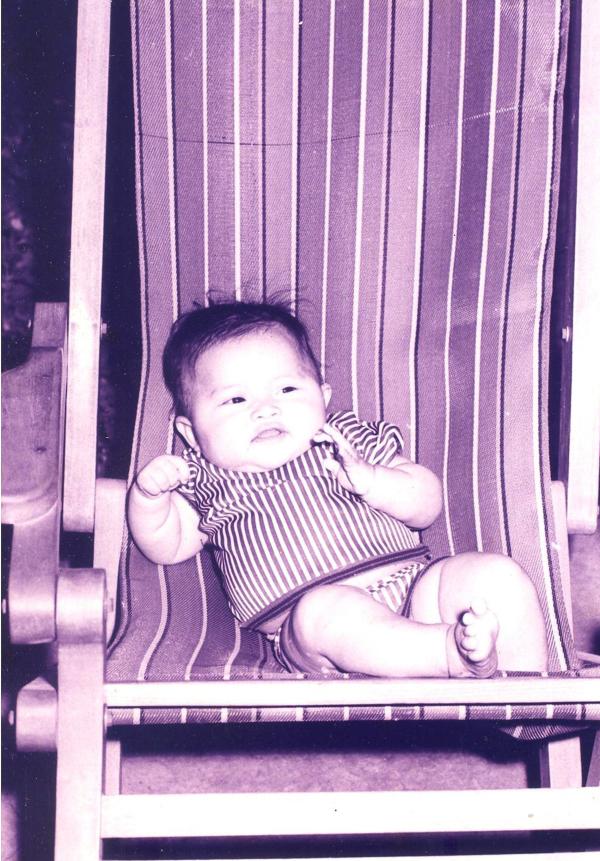 Em bé Bảo Khuyên lúc 3 tháng tuổi.