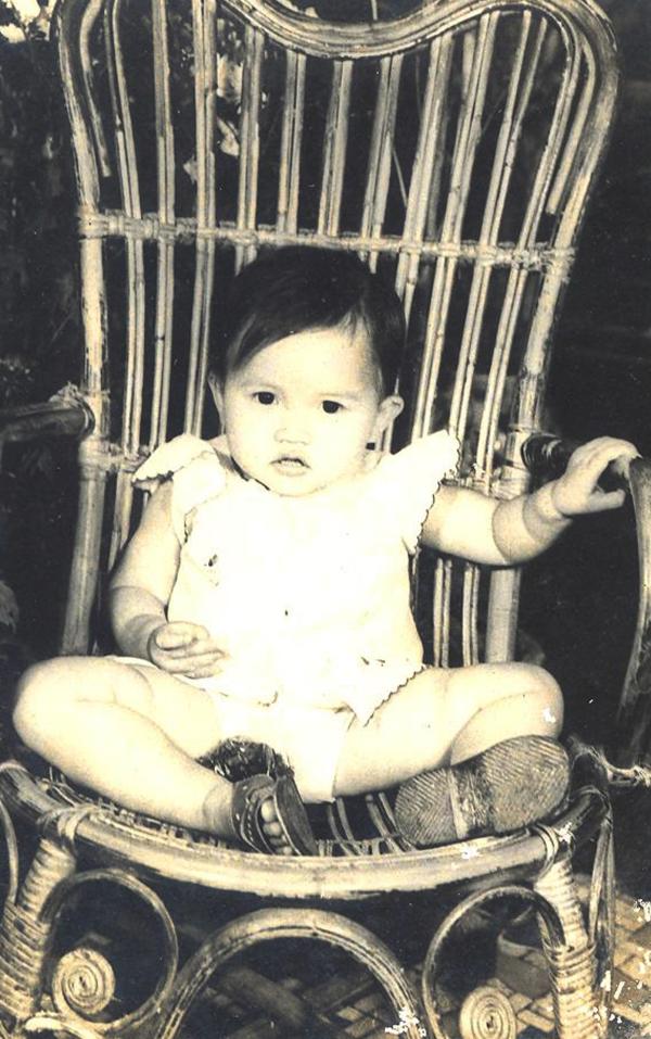 Em bé Bảo Khuyên lúc 3 tuổi.