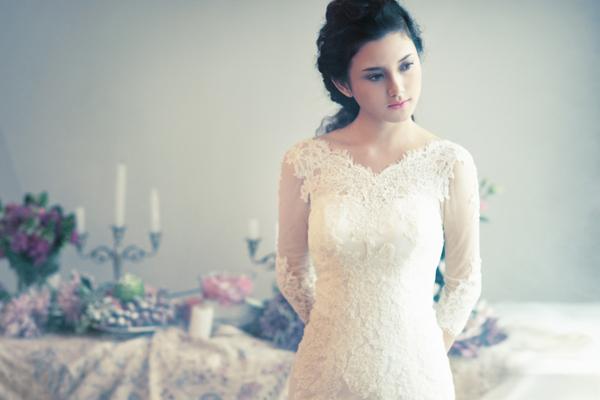 Váy cưới tinh khôi cho nàng dâu mùa thu