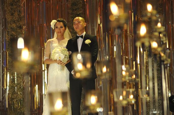 Sự kiện - Ngọc Thạch thay hai váy trong lễ cưới  (Hình 3).