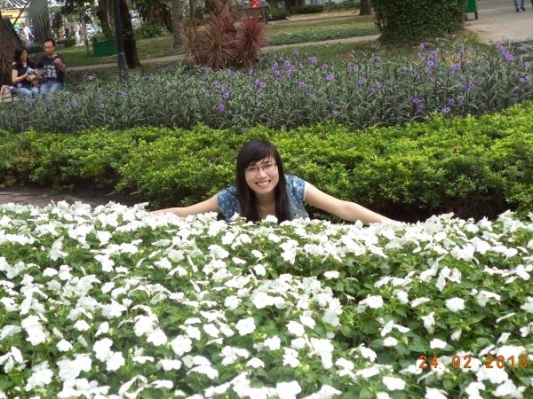 Tôi tại công viên Tao Đàn năm 2012.