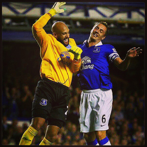 Tim Howard (with the assist) & Phil Jagielka
