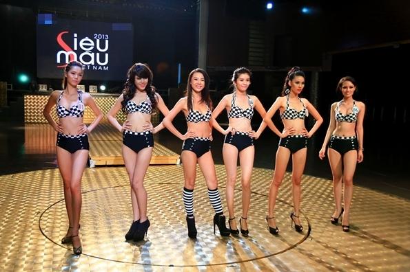 Phần thi cuối cùng là trình diễn trang phục Bikini, các thí sinh đã tự tin sải bước và một lần nữa phô diễn những nét đẹp hình thể.