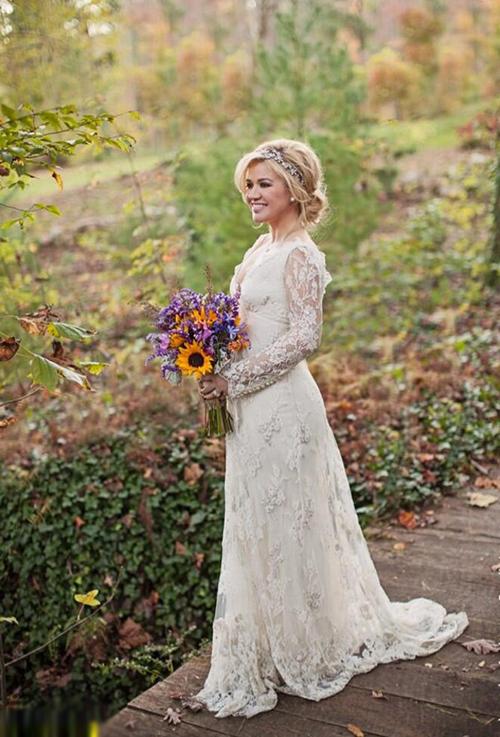 Váy cưới vintage của Kelly Clarkson