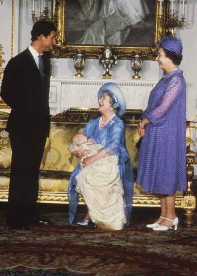 He was baptised, aged two months, on 4 August, the Queen Mother's birthday in the Music Room of Buckingham Palace. Photo: © PA