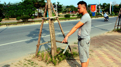 Địa điểm nơi anh Tuấn phát hiện ra chiếc xe Lead tang vật của vụ án.