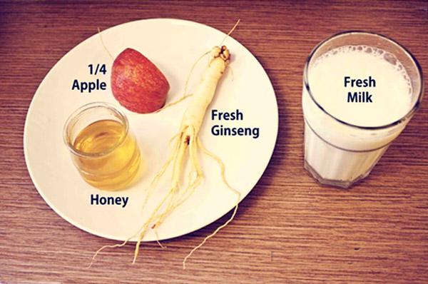 Các thành phần trong sữa nhân sâm.