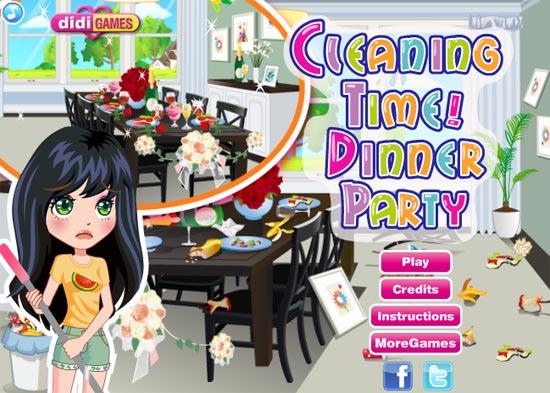 Tiệc thì vui thật đấy nhưng mà rác rưởi và đồ đạc bị vứt lung tung hết rồi, hãy giúp cô gái thu dọn chúng nhé.