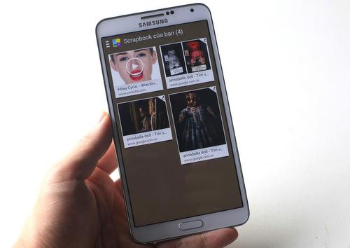 Galaxy Note 3 phiên bản 4G có ngoại hình, kích thước màn hình cũng như các trang bị như camera hay bút S-Pen không khác model chính hãng đang bán ra ở Việt Nam.