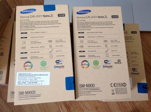 Bản 4G có tên mã SM-N9005 thay vì SM-N900 như model chính hãng. Các tính năng của cả hai gần như giống hệt nhau, model 4G không hỗ trợ HD Voice nhưng lại có thể quay video độ phân giải 4K cũng như hỗ trợ và xử lý phát các nội dung 4K ngay trên phần mềm mặc định của điện thoại.