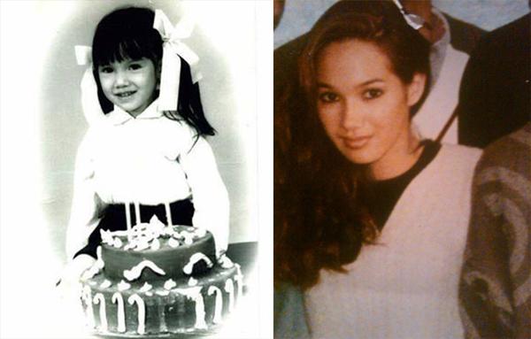 Katerina lúc nhỏ (ảnh trái) và khi trưởng thành. Cô tha thiết tìm cha là ông Nguyễn Thanh (hay Thành) Long, người Hải Phòng.