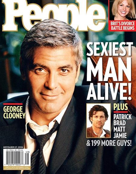 """Năm 2006, người đàn ông được tôn vinh là """"gã đầu bạc quyến rũ"""" George Clooney khi anh 45 tuổi."""