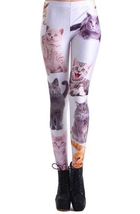 Quần legging mèo phù hợp với những cô nàng nhí nhảnh.