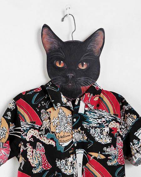 Mắc áo gắn đầu mèo cực ngầu nhé!
