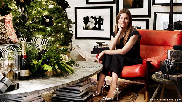 Vợ Justin Timberlake decor phòng lộng lẫy dịp Noel