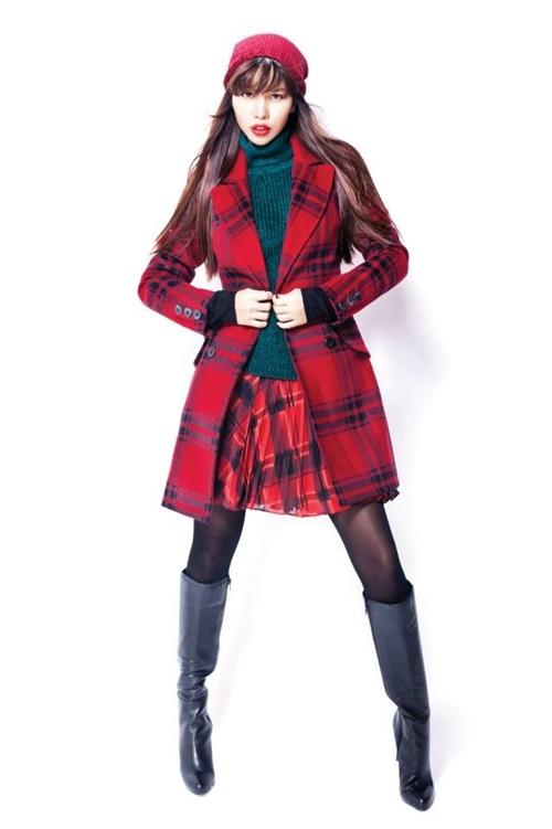Áo choàng cổ vest và áo len cổ lọ  hay